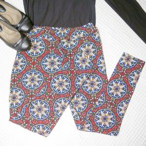 Honey & Lace Leggings Red Size Large